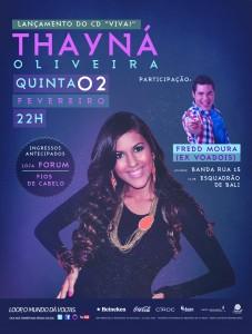 "Thayná Oliveira lança o seu primeiro CD, ""VIVA"""