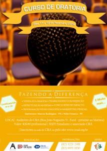 Curso de Oratória Diferenciado acontece neste final de semana