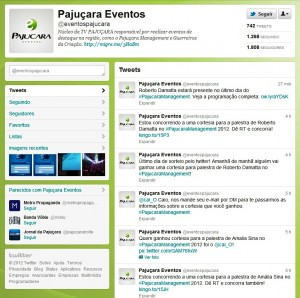 Pajuçara Management 2012: Concorra a Cortesias