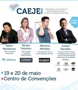 II Congresso Alagoano de Empreendedorismo acontece nos dias 19 e 20 de maio