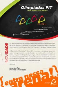 Academia Fit Arena Lança com Exclusividade I Olimpíada Fitness