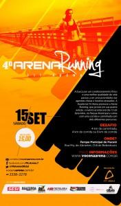 4º Arena Running acontece no Parque Municipal