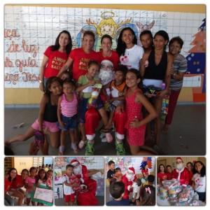 Papai Noel da Fit Arena realiza Sonhos na Fundação Pró-Amor