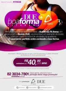Revista DUE & Academia Fit Arena lançam promoção Neste Verão